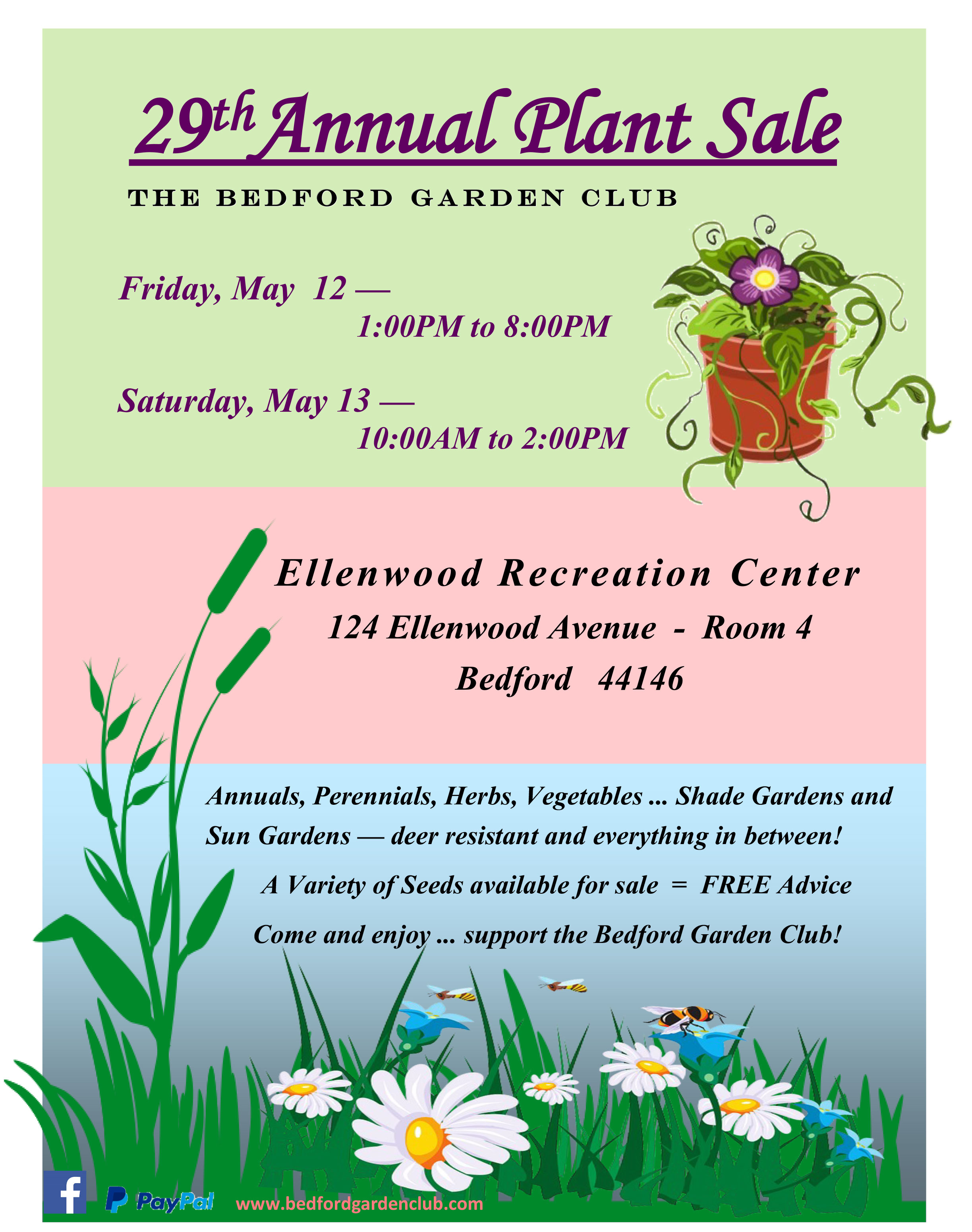 Mark Your Calendars For The Bedord Plant Sale. The Bedford Garden Club   Making Bedford more beautiful one garden